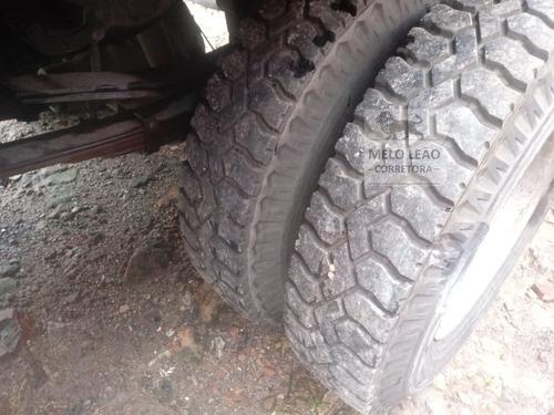 f-4000 - 07/08- carroceria de madeira, pneus novos, vermelho