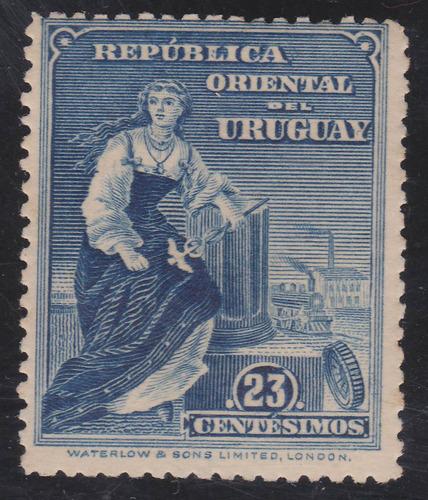 f - filatelia - uruguay 1910 - 23 centesimos # 192