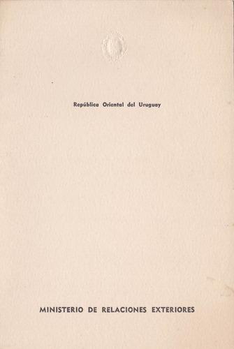 f- postal filatelica 1972 - ministerio relaciones exteriores