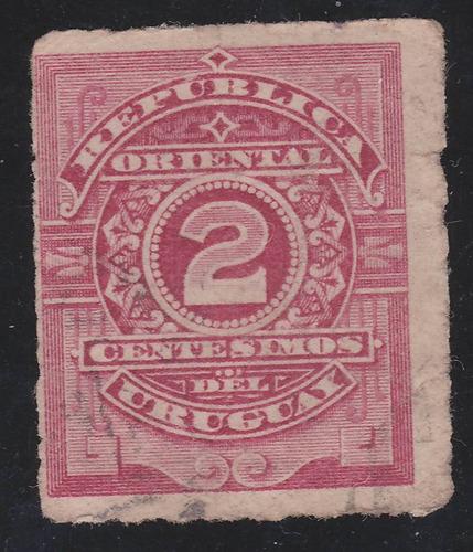 f- uruguay - 1884 / 88 - 2 centesimos # 59
