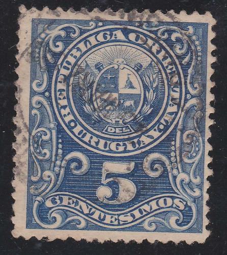 f- uruguay - 1889 / 1901 - 5 centesimos # 77