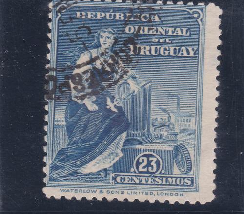 f- uruguay -  1910 - 23 centesimos # 192