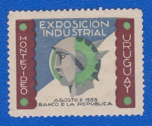 f- uruguay 1933 - viñeta exposicion industrial