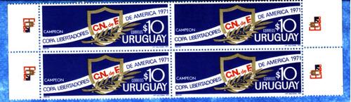 f- uruguay 1971 - nacional campeon de la libertadores  mnh