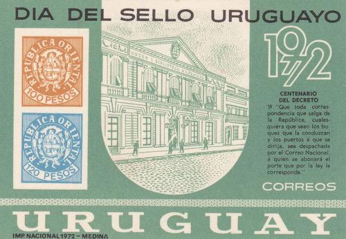 f- uruguay 1972 - hojita * c. del decreto - dia del sello