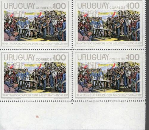 f- uruguay 1975 - tratado 1817- cuadro mnh