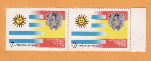 f- uruguay 1983-n$ 7- reyes de españa - x 2 sin uso