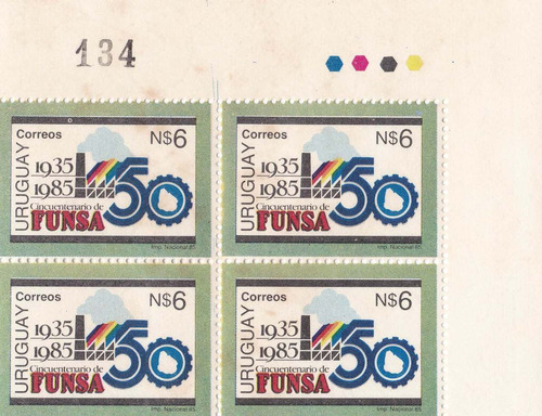 f- uruguay 1985  # 1177 cuadro funsa cincuentenario