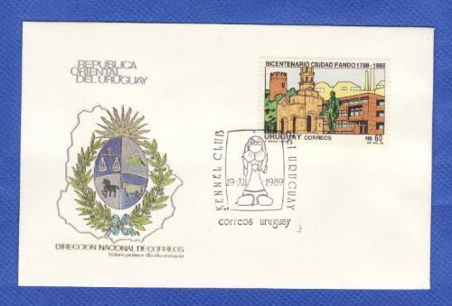f- uruguay 1988 - sobre primer dia   pando