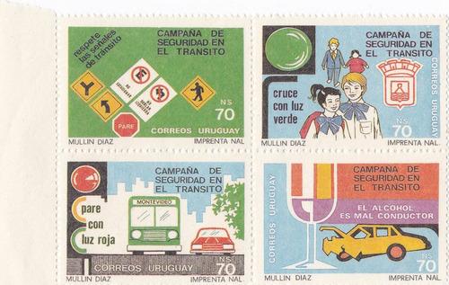 f- uruguay 1990 - transito block x 4