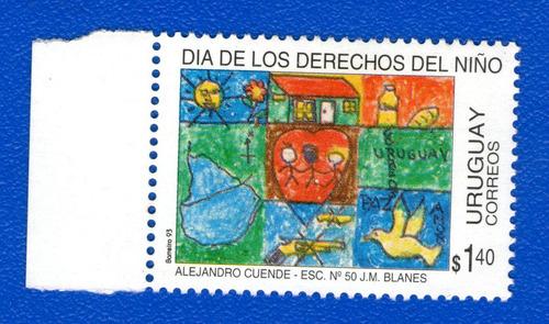f- uruguay 1994 - dia de los derechos del niño- scott #1513