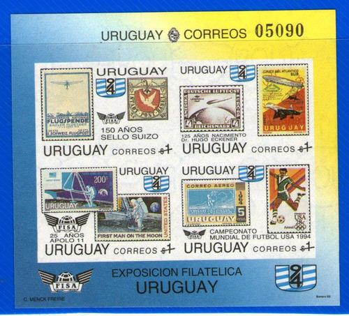 f- uruguay 1994 - sc #1519 sin perforar 150 años sello suizo