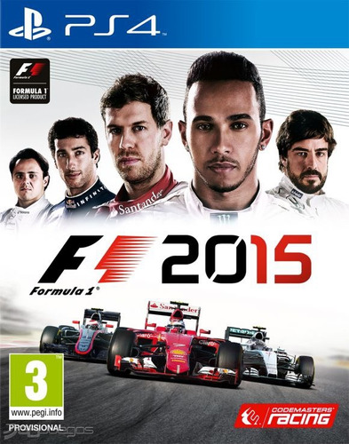 f1 2015 formula 1 ps4 play station videojuego