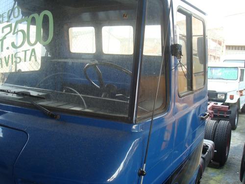 f100,f75,mb 608 ano 76 azul excelente estado sem carroceria