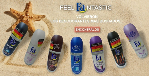 fa desodorante antitranspirante pack 6 roll-on 50ml alemania