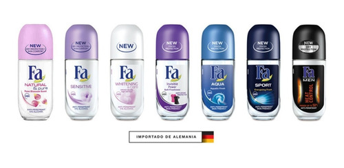 fa desodorante antitranspirante roll-on 50ml aleman
