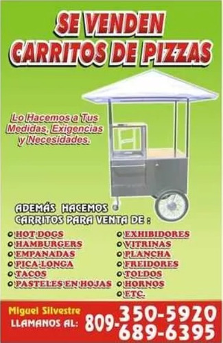 fab. de foodtruck, carritos para hamburguesa, hot dogs, etc