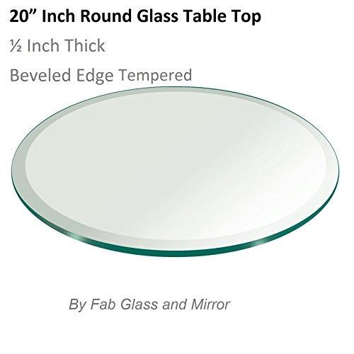 Fab vidrio y el espejo con borde biselado ronda templado for Espejo con borde biselado