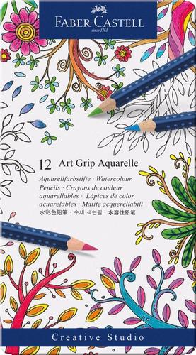 faber castell 12 colores acuarela art grip 114212 aquarelle