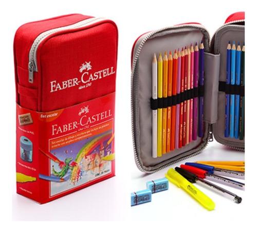 faber castell 24 colores estuche 34 piezas escuela dibujo