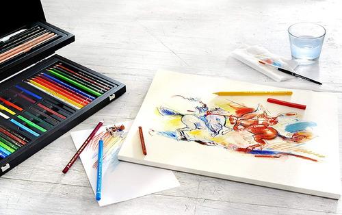 faber castell arte y colorear gráfico conjunto