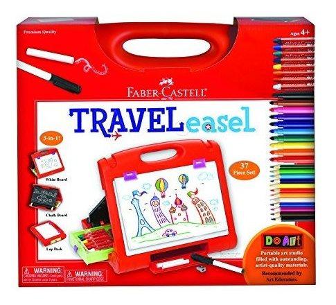 faber castell do art travel easel - kit de arte portátil par