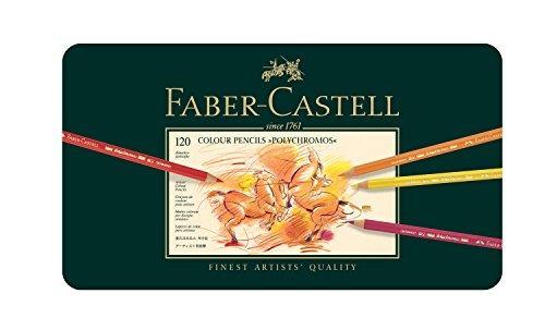 faber castell polychromos lápiz de color set - lata de 120