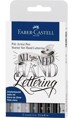 faber conjunto pitt hand lettering 7 canetas tons cinza