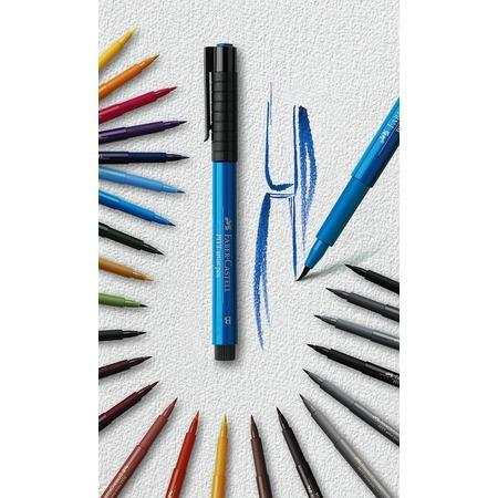 faber estojo caneta pont pincel nanquim pitt 6 tons paisagem