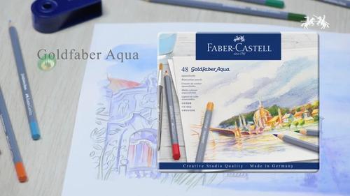 faber estojo metal goldfaber aqua 48 cores aquarelaveis