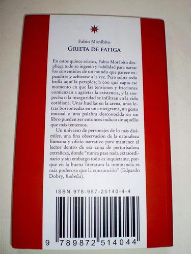 fabio morabito - grieta de fatiga libro nuevo envio gratis