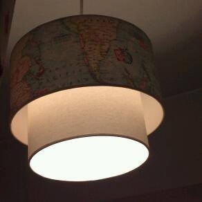 fabrica artesanal pantallas,lamparas,colgante doble luz led