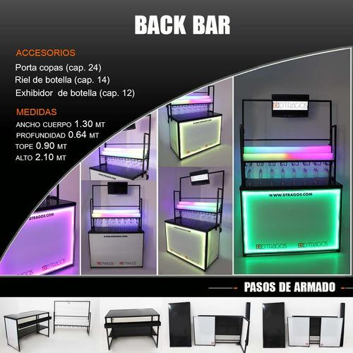 fabrica de bares, barras moviles plegables led bartender