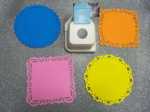 fabrica de blondas x 4 unid cartulina papel asb troquelador
