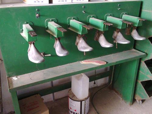 fabrica de calzado con toda su maquinarias