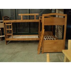 Fabrica De Cama Superpuestas Cucheta Dobles En Madera Maciza