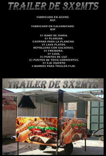 fabrica de carros de comida rapida y trailer