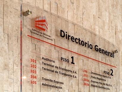 fabrica de directorio acrilico clinica y centros comerciales