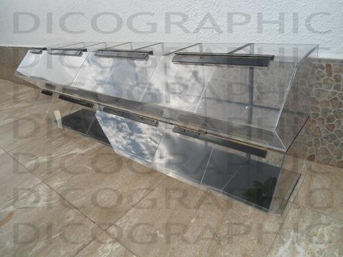 fabrica de exhibidores de fruto seco cualquier forma  medida