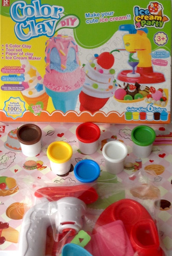 fabrica de helados en plastilina para diversión de niños