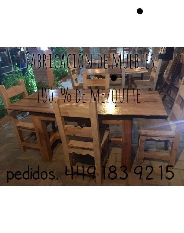 Fabrica De Muebles Artesanales De Mezquite - $ 1,500.00 en Mercado Libre