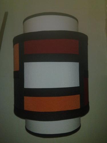 fabrica de pantallas artesanales,aplique de pared doble