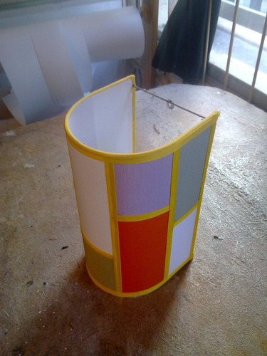 fabrica de pantallas artesanales,aplique de pared patchwork