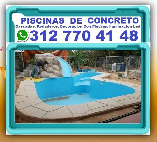 fabrica de piscinas ecologicas en concreto, cascadas, rodade
