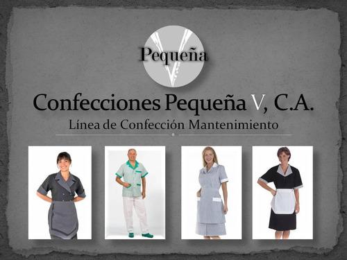 fabrica de ropa y uniformes - confecciones pequeña v, c.a.