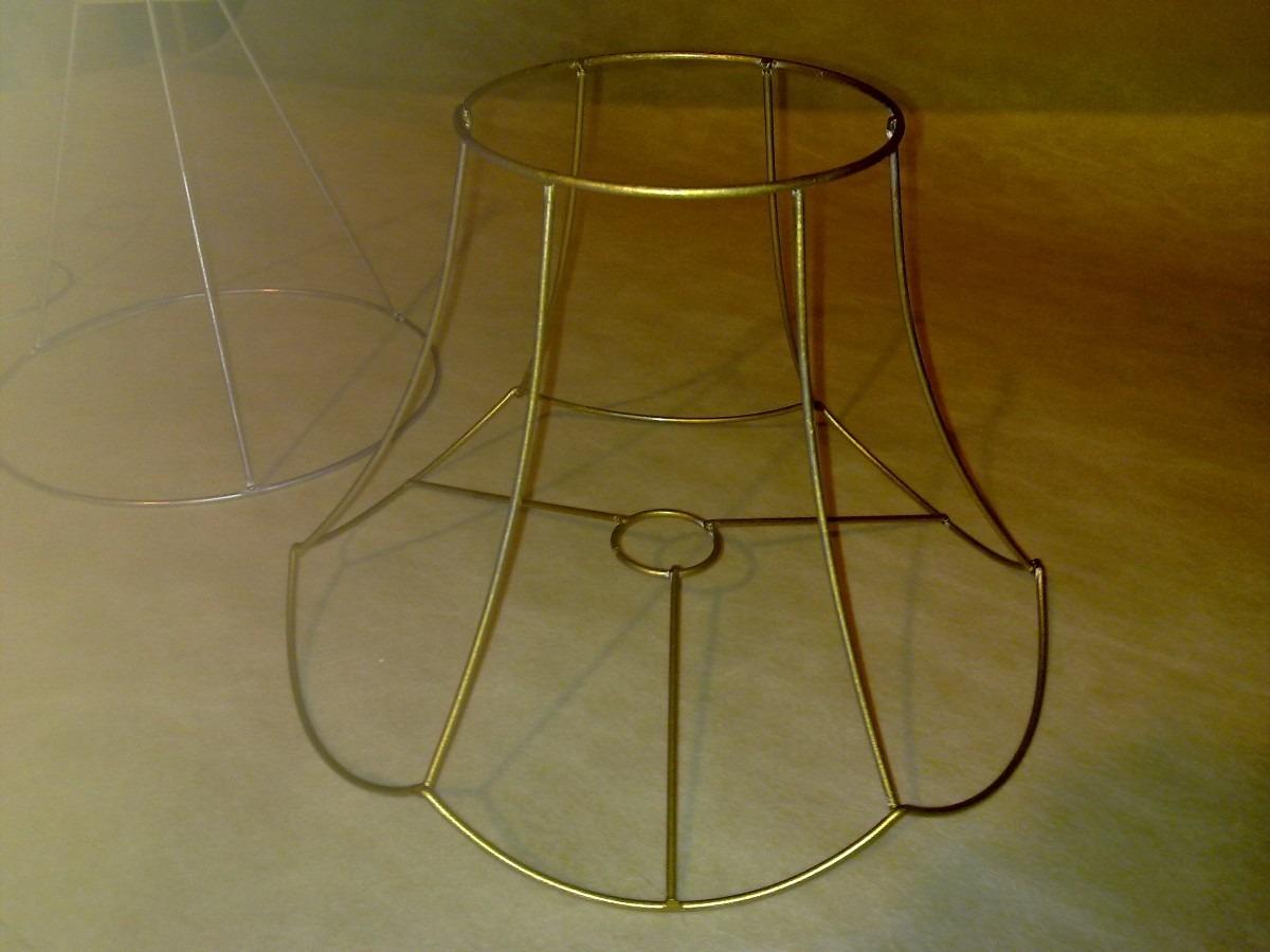 Fabrica estructuras alambre y pantallas lamparas iluminacion 250 00 en mercado libre - Pantallas de lamparas de mesa ...