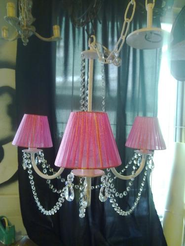 fabrica iluminacion en hierro,lamparas,arañas con caireles
