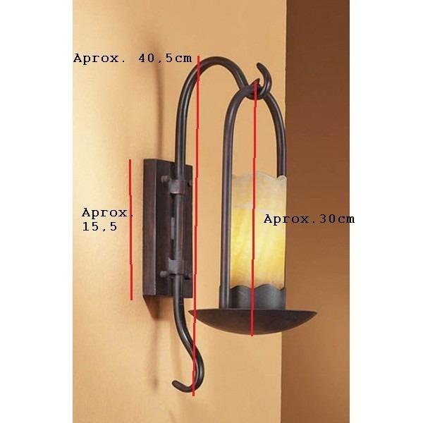 Fabrica iluminacion hierro forja candelabro aplique de - Candelabros de pared ...