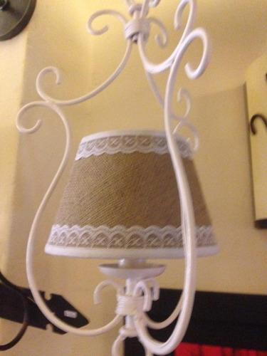 fabrica iluminacion,hierro forjado,lamparas,arañas  2 luces