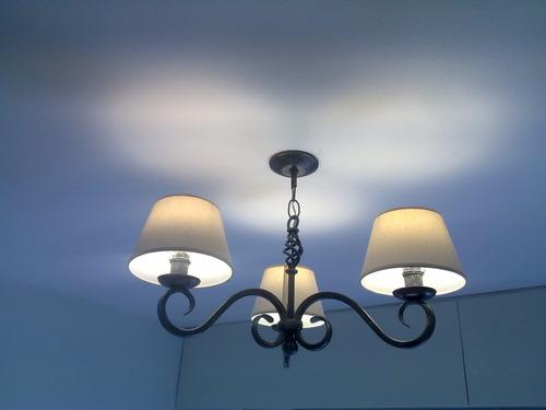 fabrica iluminacion,hierro forjado,lamparas,arañas,pantallas